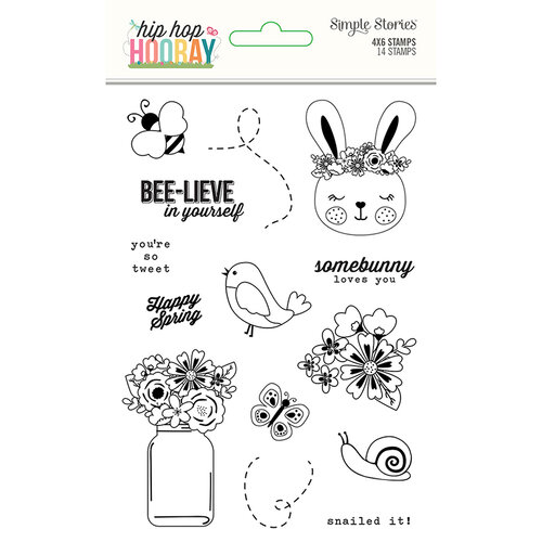 Simple Stories - Hip Hop Hooray Collection - Clear Photopolymer Stamps