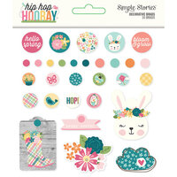 Simple Stories - Hip Hop Hooray Collection - Decorative Brads