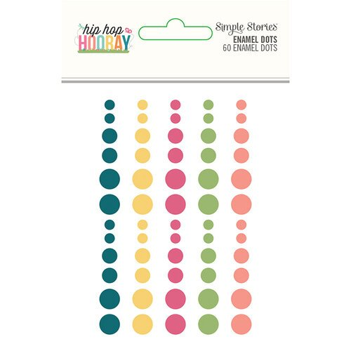 Simple Stories - Hip Hop Hooray Collection - Enamel Dots