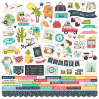 Simple Stories - Going Places Collection - 12 x 12 Cardstock Stickers - Combo