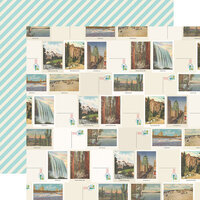 Simple Stories - Going Places Collection - 12 x 12 Double Sided Paper - Let's Get Lost