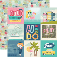Simple Stories - Going Places Collection - 12 x 12 Double Sided Paper - 4 x 4 Elements