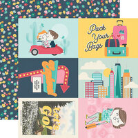 Simple Stories - Going Places Collection - 12 x 12 Double Sided Paper - 4 x 6 Elements