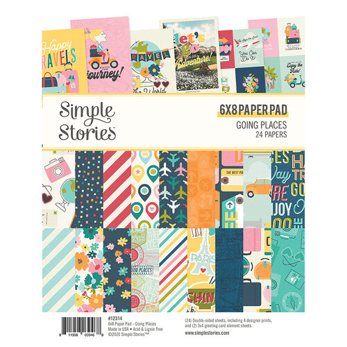 Simple Stories - Going Places Collection - 6 x 8 Paper Pad