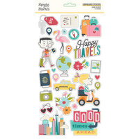 Simple Stories - Going Places Collection - 6 x 12 Chipboard Stickers
