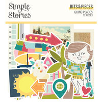Simple Stories - Going Places Collection - Ephemera - Bits and Pieces