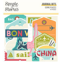 Simple Stories - Going Places Collection - Ephemera - Journal Bits and Pieces