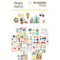 Simple Stories - Going Places Collection - 4 x 6 Sticker Book