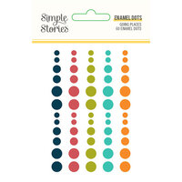 Simple Stories - Going Places Collection - Enamel Dots