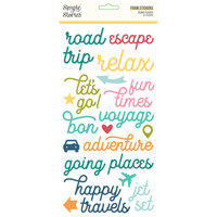 Simple Stories - Going Places Collection - Foam Stickers