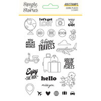 Simple Stories - Going Places Collection - Clear Photopolymer Stamps
