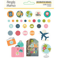 Simple Stories - Going Places Collection - Decorative Brads