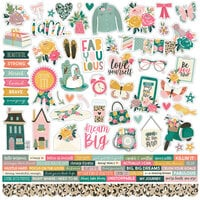 Simple Stories - I Am Collection - 12 x 12 Cardstock Sticker - Combo