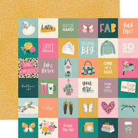 Simple Stories - I Am Collection - 12 x 12 Double Sided Paper - 2 x 2 Elements