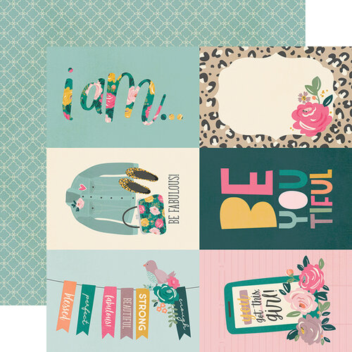 Simple Stories - I Am Collection - 12 x 12 Double Sided Paper - 4 x 6 Elements
