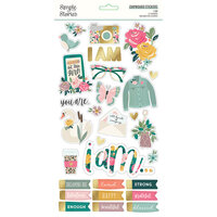 Simple Stories - I Am Collection - 6 x 12 Chipboard Stickers with Foil Accents