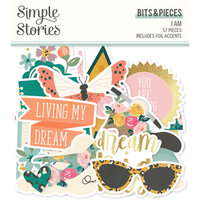 Simple Stories - I Am Collection - Ephemera - Bits and Pieces with Foil Accents