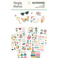 Simple Stories - I Am Collection - 4 x 6 Sticker Book with Foil Accents