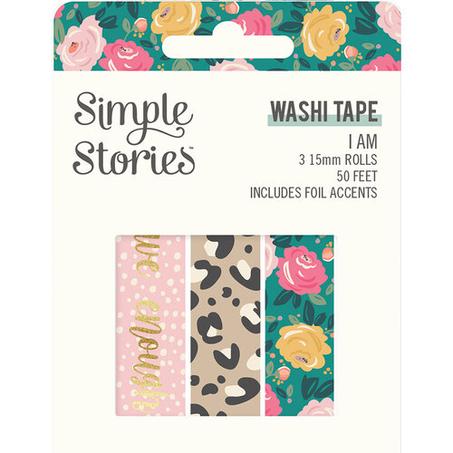 Simple Stories - I Am Collection - Washi Tape with Foil Accents