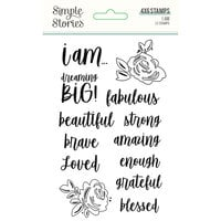 Simple Stories - I Am Collection - Clear Photopolymer Stamps
