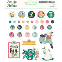 Simple Stories - I Am Collection - Decorative Brads