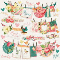 Simple Stories - Simple Vintage Garden District Collection - 12 x 12 Cardstock Stickers - Banner