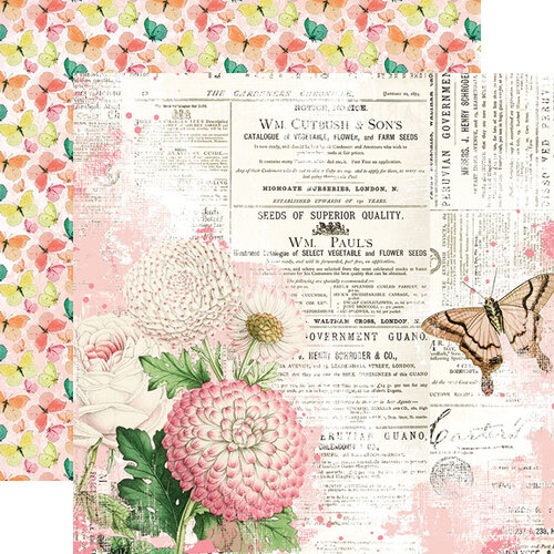 Simple Stories - Simple Vintage Garden District Collection - 12 x 12 Double Sided Paper - You Can Fly