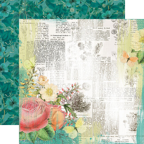 Simple Stories - Simple Vintage Garden District Collection - 12 x 12 Double Sided Paper - Live for Today