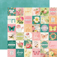 Simple Stories - Simple Vintage Garden District Collection - 12 x 12 Double Sided Paper - 2x2 Elements