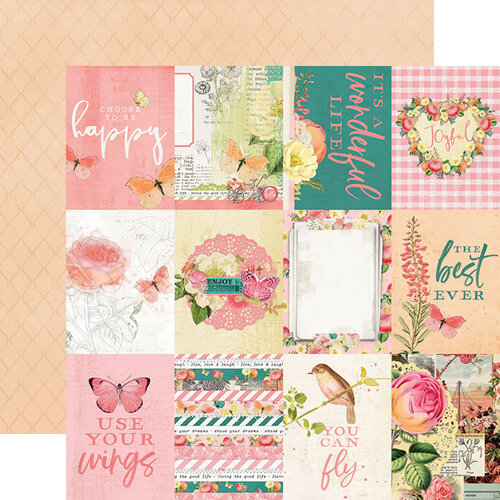 Simple Stories - Simple Vintage Garden District Collection - 12 x 12 Double Sided Paper - 3x4 Elements
