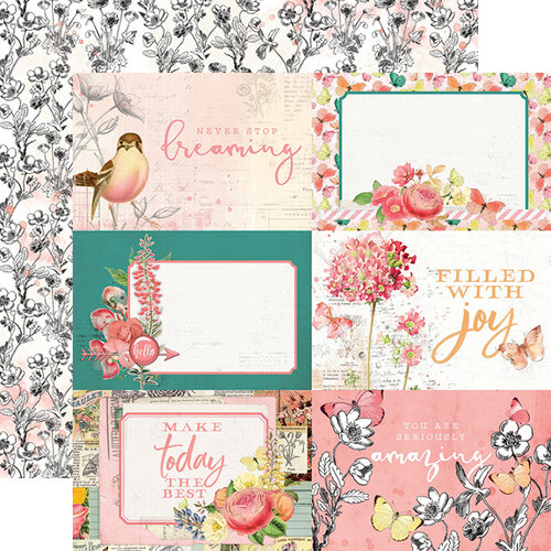Simple Stories - Simple Vintage Garden District Collection - 12 x 12 Double Sided Paper - 4x6 Elements