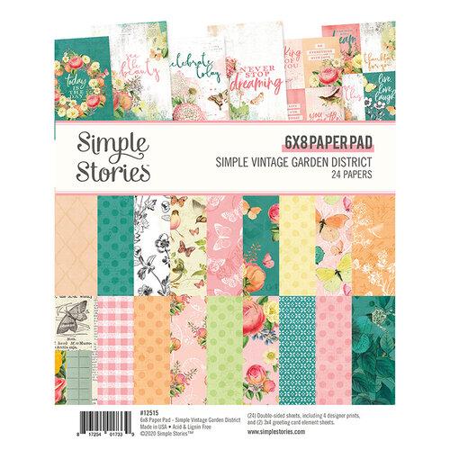 Simple Stories - Simple Vintage Garden District Collection - 6 x 8 Paper Pad