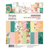 Simple Stories - Simple Vintage Garden District Collection - 6 x 8 Paper Pad