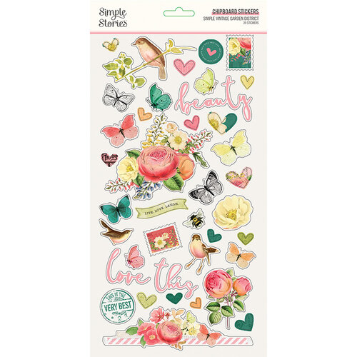 Simple Stories - Simple Vintage Garden District Collection - 6 x 12 Chipboard Stickers