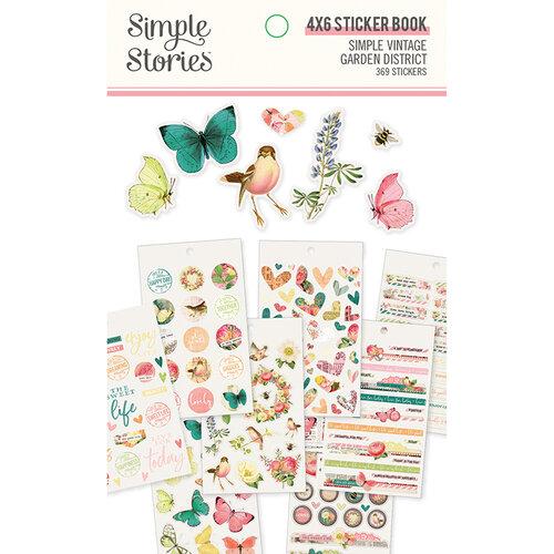 Simple Stories - Simple Vintage Garden District Collection - 4 x 6 Sticker Book