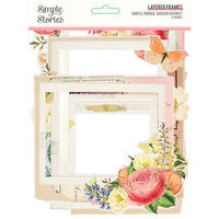 Simple Stories - Simple Vintage Garden District Collection - Layered Chipboard Frames