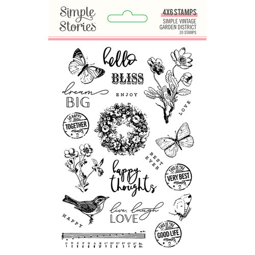 Simple Stories - Simple Vintage Garden District Collection - Clear Photopolymer Stamps