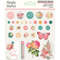 Simple Stories - Simple Vintage Garden District Collection - Decorative Brads