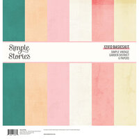 Simple Stories - Simple Vintage Garden District Collection - 12 x 12 Simple Basics Kit