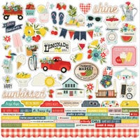 Simple Stories - Summer Farmhouse Collection - 12 x 12 Cardstock Stickers - Combo