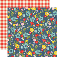 Simple Stories - Summer Farmhouse Collection - 12 x 12 Double Sided Paper - Backyard BBQ