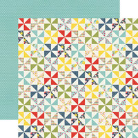 Simple Stories - Summer Farmhouse Collection - 12 x 12 Double Sided Paper - Simple Pleasures