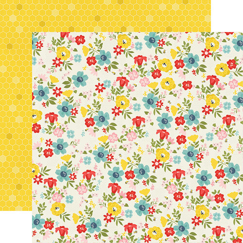 Simple Stories - Summer Farmhouse Collection - 12 x 12 Double Sided Paper - Sunny Day