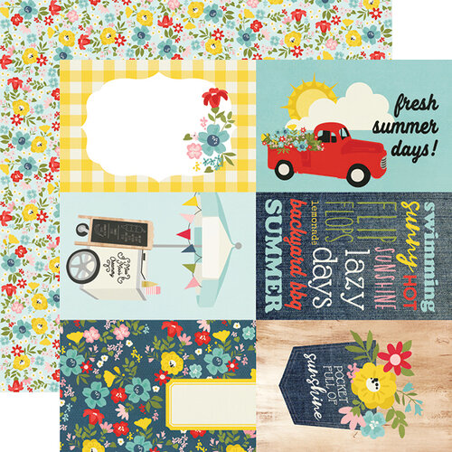 Simple Stories - Summer Farmhouse Collection - 12 x 12 Double Sided Paper - 4 x 6 Elements
