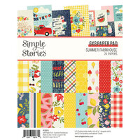 Simple Stories - Summer Farmhouse Collection - 6 x 8 Paper Pad
