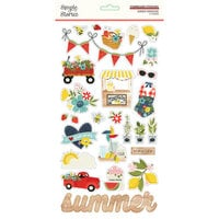 Simple Stories - Summer Farmhouse Collection - 6 x 12 Chipboard Stickers