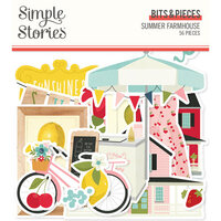 Simple Stories - Summer Farmhouse Collection - Ephemera - Bits and Pieces