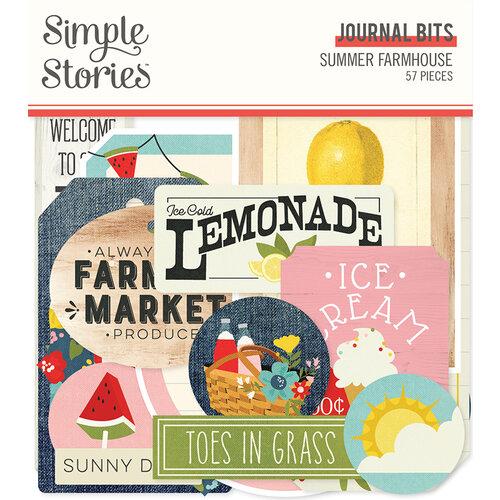 Simple Stories - Summer Farmhouse Collection - Ephemera - Journal Bits