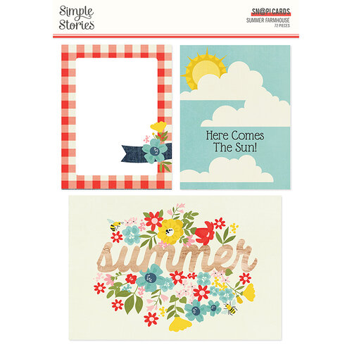 Simple Stories - Summer Farmhouse Collection - SNAP Cards