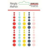 Simple Stories - Summer Farmhouse Collection - Enamel Dots
